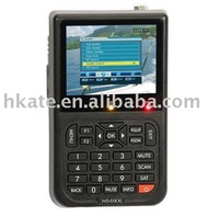 Free shippping, portable digital satellite finder,3.5inch HD lCD screen,high quality, auto scan,built-in Li-iion battery