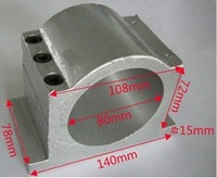 Engraving machine fittings cast aluminum 80mm spindle fixture