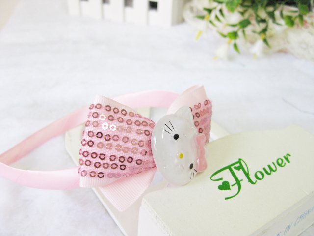 Wholesale mix color baby girl headbands,cute pink kitty girl headband(China (Mainland))