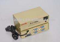 Free Shipping+2pcs/lot+New 4 port vga splitter 150mhz 1 PC to 4 VGA Monitor TV Video Splitter/4 Port VGA Splitter