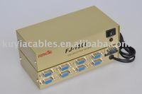 Free Shipping+2pcs/lot+New 8 port vga splitter 150mhz 1 PC to 8 VGA Monitor TV Video Splitter/8Port VGA Splitter