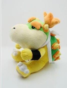 "Mario Bros New 7"" Cute BOWSER Plush Doll FigurineToy free shipping"