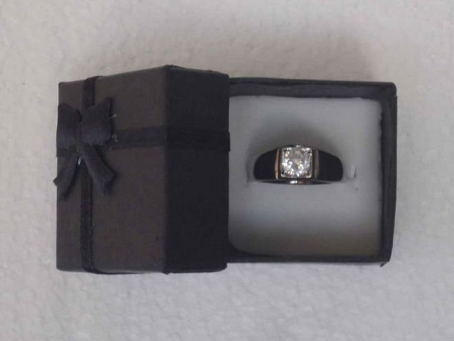 wholesale free shipping cool wonderful black color ring box gift box packing box for lovers(China (Mainland))