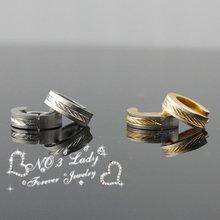 Free shipping 316l Stainless Steel Twill Men's Hoop Earrings Huggie For Biker Rocker Punk, Wholesale(China (Mainland))
