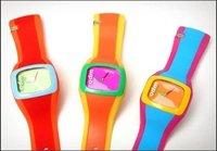 3pcs/lot ODM sport jelly multicolour unisex soft silica gel watch ODM free shipping