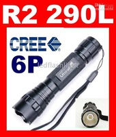 UltraFire 6P Cree R2 123A 18650 defender led 290L Lumens Flashlight