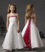 Factory Custom Embroidered Flower Girl / Child Dress