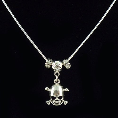 Free shipping 925 silver 1mm snake Cool Skull necklace.fashion jewelry set Could Mixed Style Buy 10 get 1 Free(China (Mainland))