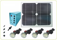 solar light kit for 4pcs LED and charge mobile
