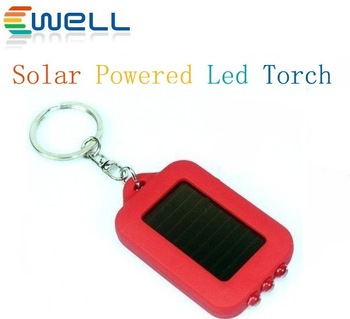 Free Shipping, 80pcs/lot wholesale Colorful Mini Solar Power Rechargeable LED Flashlight Torch Light, led solar torch