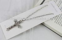FREE SHIPPING 3PCS Tibetan silver Cross Pendant Necklace #20050