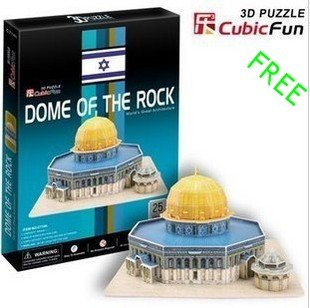 Promition! Educational DIY toy, Intelligence toy, Cubic fun,3D puzzle, Large Dome of The Rock( Model)