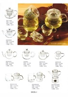 FREE SHIPPING+800ml clean glass teapot+2pcs blooming tea