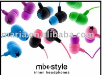 Stereo earphones / In-ear Earphones for ipod, iphone ,coputer,mp3,game player CD/DVD(Free shipping)