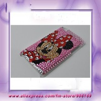 Free Shipping For ipod touch Case Minne Mouse Bling Plastic Hard Back Cover Case For ipod touch 4 4th Case