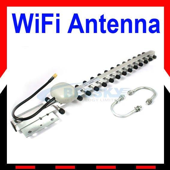 2.4 GHz Yagi Wireless WLAN WiFi Antenna 20 dBi RP-SMA(China (Mainland))