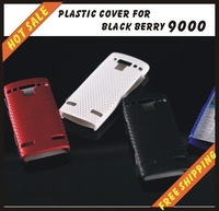 Free shipping --New high quality more colours plastic cover case mobile phone cellphone for black berry 9000