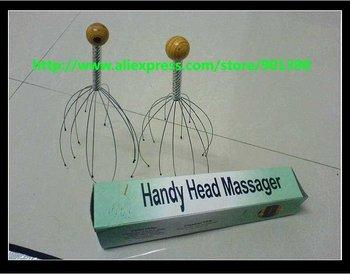 200pcs/lot manual vibrating scalp handle head massager personal care massager