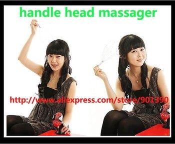 200pcs/lot manual vibrating scalp handle head massager manual head massager With retail box Free Shipping