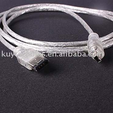 Free Shipping+10pcs/lot+NEW IEEE 1394 iLINK FIREWIRE 6 to 4 PIN CABLE FOR DV 1.2meter(China (Mainland))