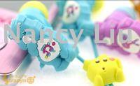 Free shipping 100pcs Newly Cute CareBears RainbowBear In-ear Earphone Headphone Care Bears Earbuds