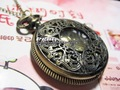 Fashion Vintage Antique Engraved Bronze Pocket Watch Necklace/Gift bag/ Free shipping