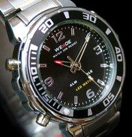 New ! Fashion & luxury  WEIDE Waterproof Dual Movements Multifunction Steel Military Watch