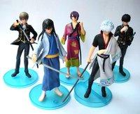 Free shipping Japanese Anime Gintama PVC Figure Set 5pcs