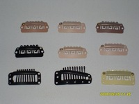 wholesale hair clips, 3.8mm steel clips for hair extensions, all colors available!!!