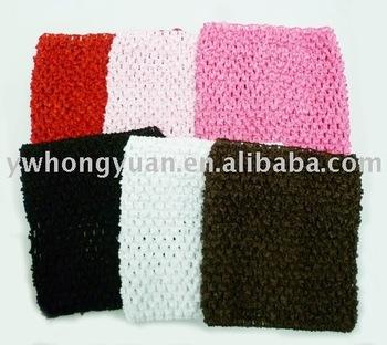 Free shipping Crochet tube top tutu top wide crochet headband size 7.5x9inch