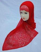 324132   red silk shawls with diamond scarves shawls black muslim women wear chothing new design hijabs islmic shawls scarf