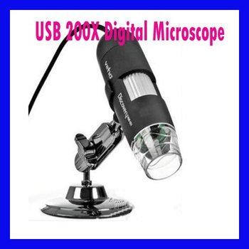 Free shipping Black USB Digital Microscope