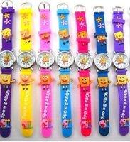 10pcs/pack 100% BRAND NEW Cartoon SpongeBob 3D children wrist watch Gift free shipping