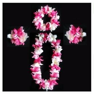 pink&white Wreath sets(6pcs sets)/Welcome etiquette garland /wedding party dance performing arts performance bar bracelet Wreath