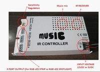 9channels RGB IR music & audio controller;DC5V input