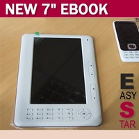 Free Shipping 5pcs/a lot 7 inch TFT Screen 4GB Ebook Reader Digital Player Ebook With MP3/MP4 Function