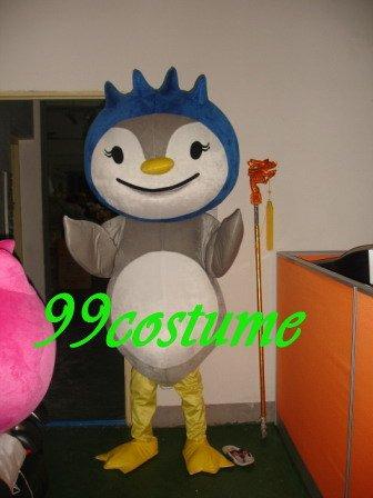 Frete Grátis Adulto Tamanho Adorável Noite coruja Pássaro Cosplay Mascot Costume Cosplay Festa Halloween Natal Vestido(China (Mainland))