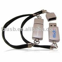 Custom Bracelet USB Flash Disk 1GB/2GB/4GB/8GB/16GB, Real Capacity,Free shipping (Free shipping for more than 30pcs)