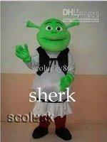 Retail or Wholesale Amazing design of Sherk Cartoon Mascot Costume Free shipping