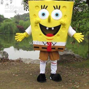 Adult Size Just Funny Cosplay of Sponge Bob Squarepants Cartoon Mascots Costumes For Sale