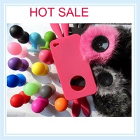 20PCS/ lots hot sale popular rabbit cute soft pouch for iphone 4