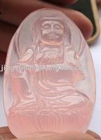 Natural crystal powder guanyin big pendant