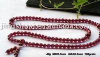 wholesale  Gourmet whole mei red garnet beads