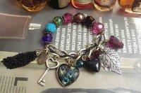 free shipping Euramerican wind restoring ancient ways  colorful beads&pendant&tassel  bracelet wholesale/retail