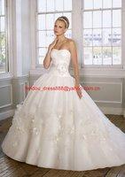 Free shipping new fashion strapless ball wedding dress /good wedding gown /popular bridal dress / bridal gown