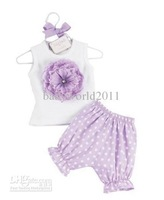 flower Design 4sets/lot F-109 Doomagic Baby Suits outfits baby clothes shirt + shorts