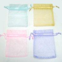 Free Shipping! 100pcs Mixed Color Organza Jewelry Bag Gift Bag 4.6''X3.9'' W31*