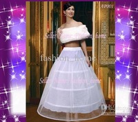 Free shipping !!  wholesale/3 hoop 2 layer organza White with train Wedding Crinoline Petticoat