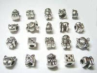 Free Shipping 50 pcs/lot Mix Style Tibetan Silver Beads Charm For PAND0RA DIY Craft Jewelry IC18