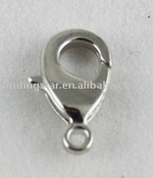 FREE SHIPPING 500PCS White gold plate Lobster Clasps 15mm #19961